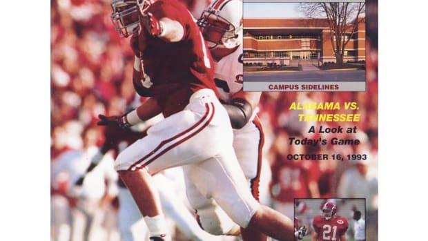 1993 Tennessee at Alabama game program covet