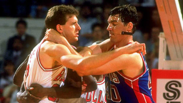 Will Perdue and Bill Laimbeer