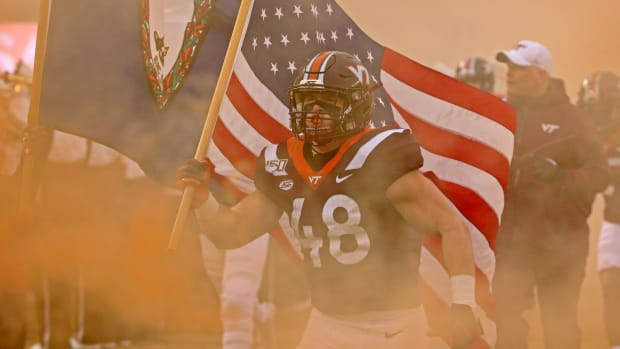 Virginia Tech Flag Bearer