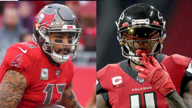 Julio jones Mike Evans thuimb
