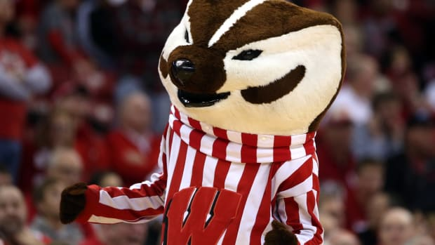 Bucky Badger Mary Langenfeld-USA TODAY Sports