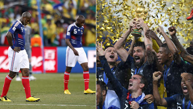 France flamed out of the 2010 World Cup but won it all in 2018