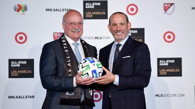Liga MX president Enrique Bonilla and MLS commissioner Don Garber