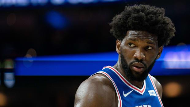 Philadelphia 76ers center Joel Embiid.