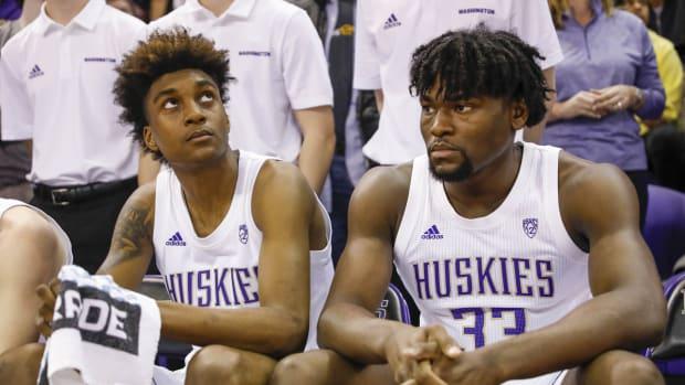 Jaden McDaniels and Isaiah Stewart await their NBA draft fates.