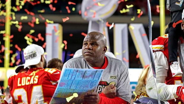 Chiefs offensive coordinator Eric Bieniemy