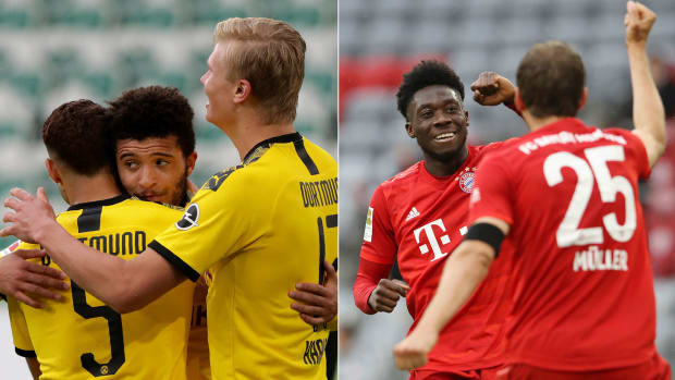 Borussia Dortmund hosts Bayern Munich in the Bundesliga
