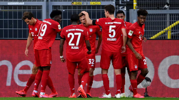 Joshua Kimmich scores for Bayern Munich