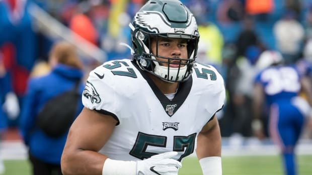 Linebacker T.J. Edwards could be one of this year's breakout performers for the Eagles