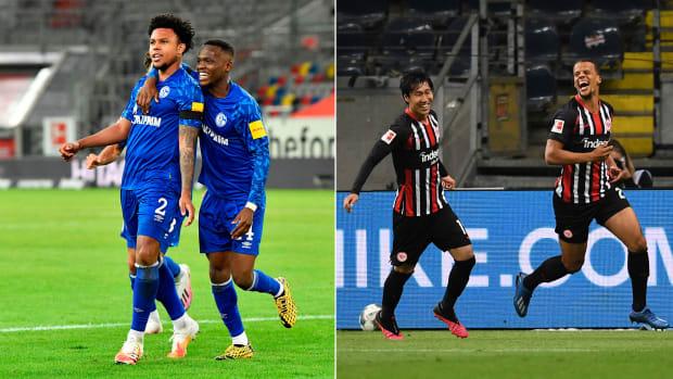 Weston McKennie and Timmy Chandler scored goals for their Bundesliga clubs