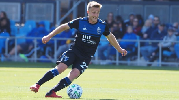 San Jose Earthquakes defender Tommy Thompson