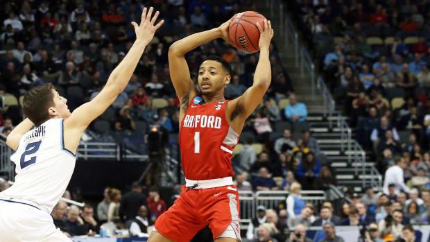Radford guard Carlik Jones, a transfer to Louisville basketball