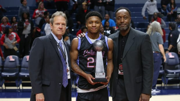 Callaway guard Daeshun Ruffin scored 33 points and was named MVP of the MHSAA Class 5A basketball championship game on Friday, March 6, 2020, at The Pavilion at Ole Miss. 2020 MHSAA Basketball Championships (Keith Warren / Clarion Ledger)