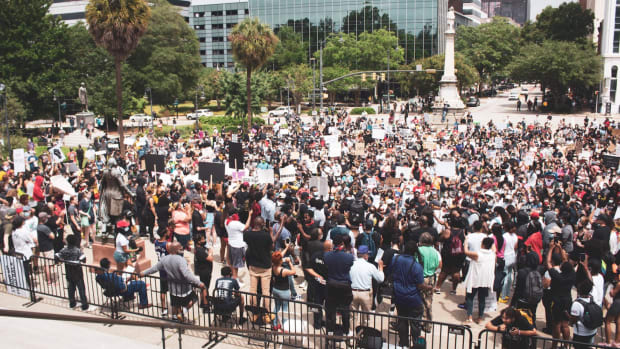 Protesters gather in Columbia, South Carolina