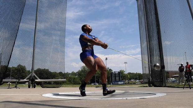 U.S. hammer thrower Gwen Berry