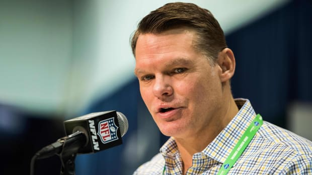 Indianapolis Colts GM Chris Ballard, shown at February's NFL Scouting Combine in Indianapolis, offered a powerful message on Thursday about racism in this country.