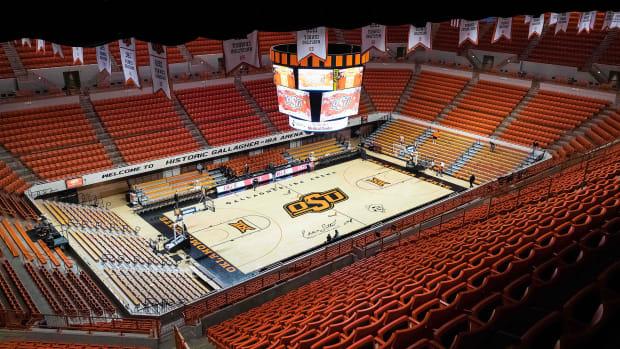 Oklahoma State basketball court