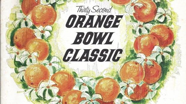 1966 Orange Bowl game program cover