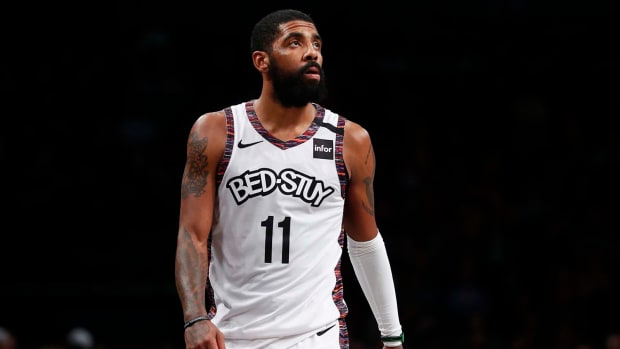 Brooklyn Nets guard Kyrie Irving during the second half against the Chicago Bulls