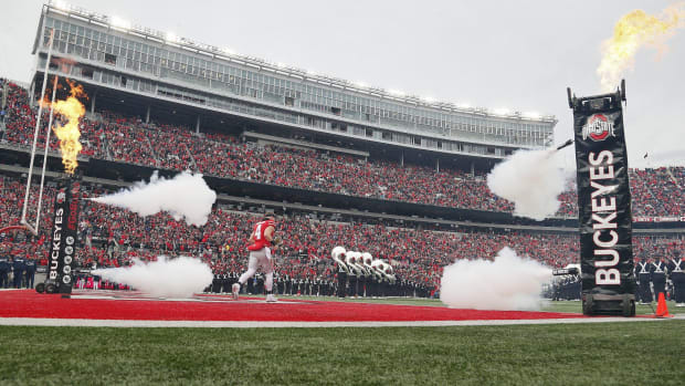 Senior Day introduction for Ohio State Football