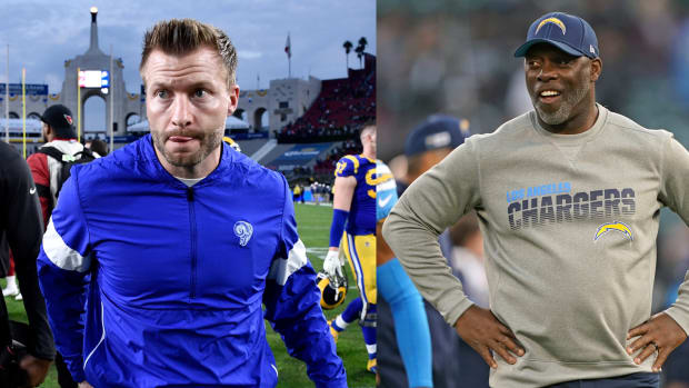 Los Angeles Rams coach Sean McVay and Los Angeles Chargers coach Anthony Lynn