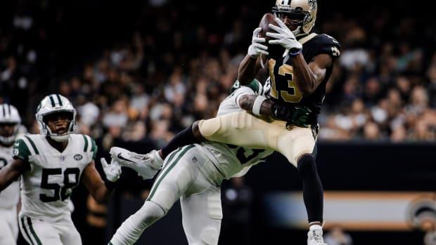Jamal Adams tackles Saints WR Michael Thomas