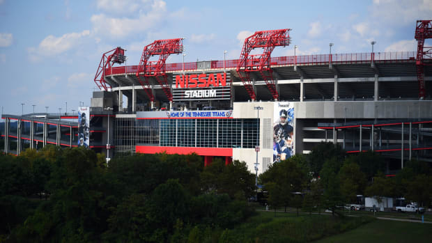 A general view of Nissan Stadium prior to a preseason game between the Tennessee Titans and the New England Patriots.