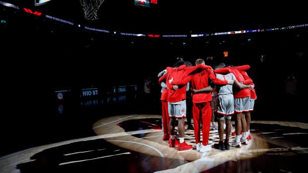 Ohio State Men's Basketball Huddle