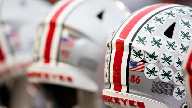 Ohio State Buckeyes football helmets