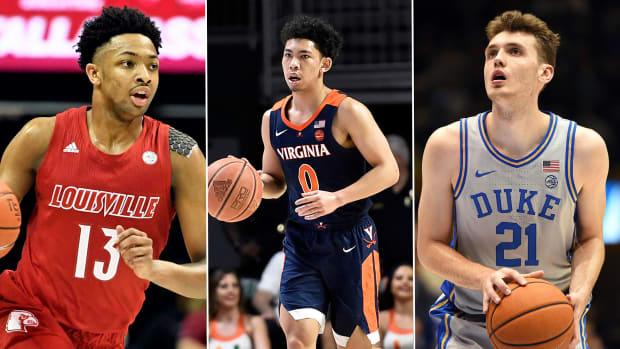 Louisville's David Johnson, Virginia's Kihei Clark and Duke's Matthew Hurt