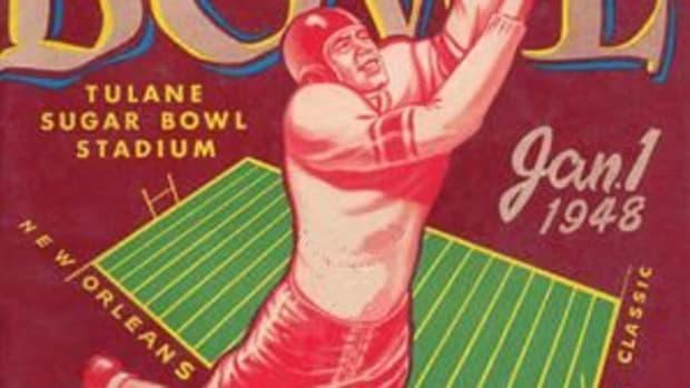 1948 Sugar Bowl cover, Alabama vs. Texas