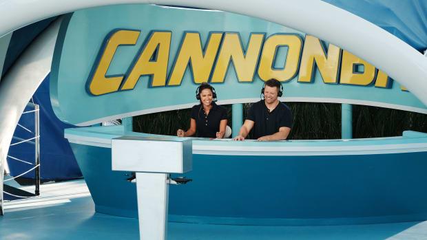 "Mike ""The Miz"" Mizanin on the set of USA Network's ""Cannonball"""