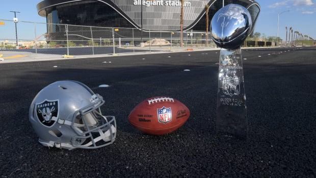 Allegiant Stadium Football Raiders Helmet