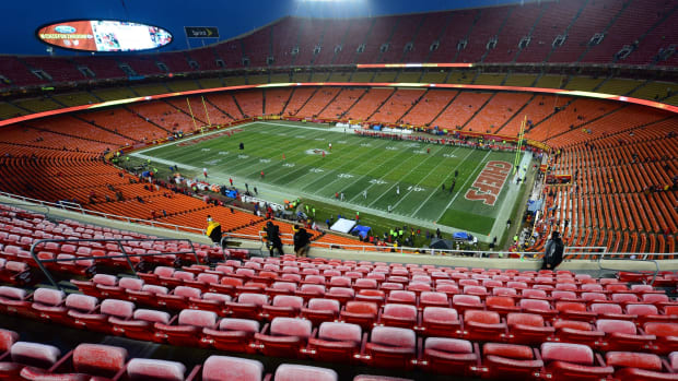 Jan 15, 2017; Kansas City, MO, USA; View of the field and empty stands prior to the game between the Kansas City Chiefs and the Pittsburgh Steelers in the AFC Divisional playoff game at Arrowhead Stadium. Mandatory Credit: Jeff Curry-USA TODAY Sports