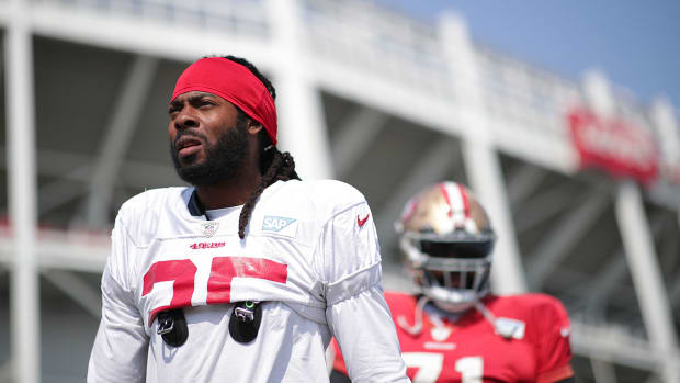 Richard Sherman with the 49ers.