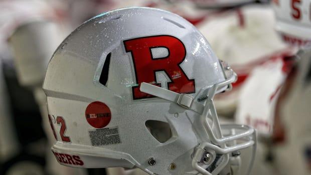 Rutgers football helmet.