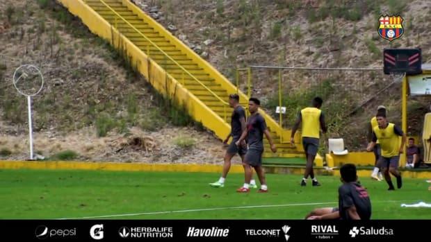 Barcelona SC prepare for game vs Flamengo