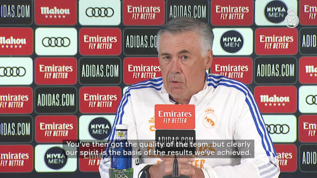Carlo Ancelotti: 'The key to it is balance: performing well with and without the ball'