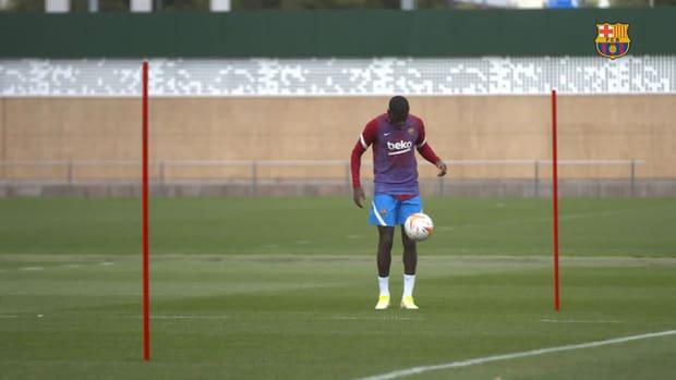 Ousmane Dembélé back in individual training at FC Barcelona