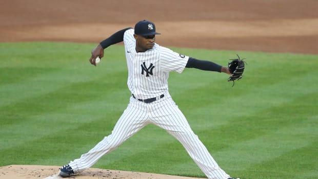 Yankees SP Domingo German pitching