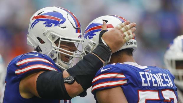 Bills defensive end A.J. Epenesa had nine pressures vs. Miami Dolphins.