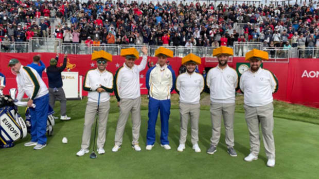 The European Team with its cheeseheads at Whistling Straits.