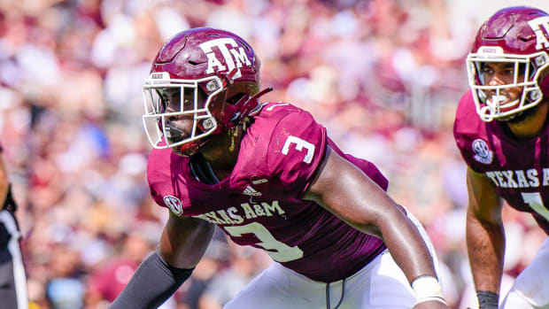 Texas A&M defensive lineman Tyree Johnson