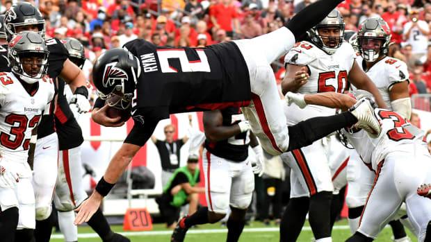 Matt Ryan touchdown dive Atlanta Falcons vs. Tampa Bay Buccaneers