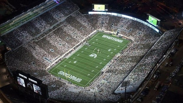 Spartan Stadium stripe Michigan State