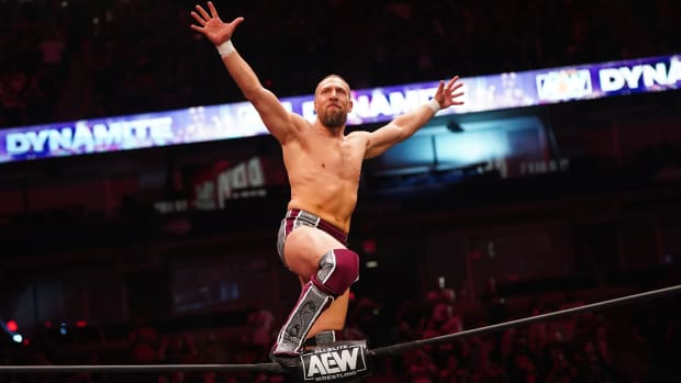 Bryan Danielson poses on top of the turnbuckle