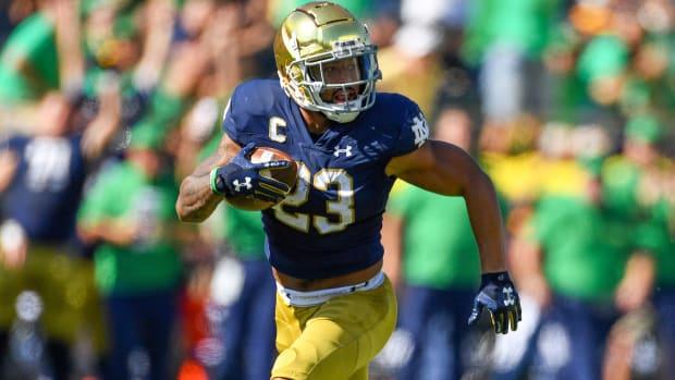Notre Dame running back Kyren Williams