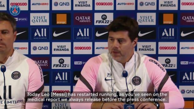 Pochettino gives injury update on Messi