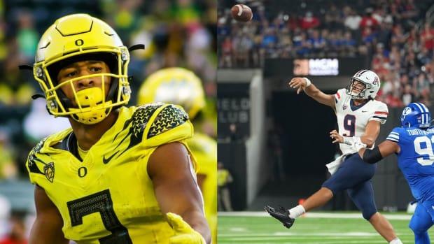 Oregon vs. Arizona Football Split