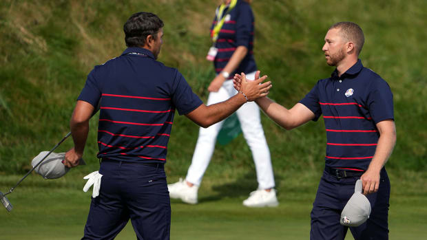 Brooks Koepka and Daniel Berger at the 2021 Ryder Cup.